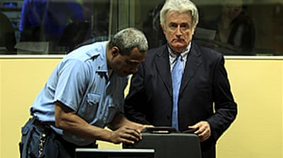 Karadzic refuses to enter plea