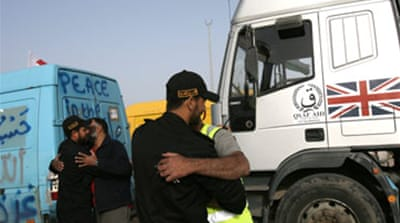 Aid convoy enters Gaza Strip