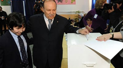 Algeria's Bouteflika re-elected