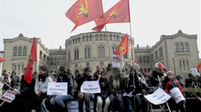 Tamil protesters raid Oslo embassy