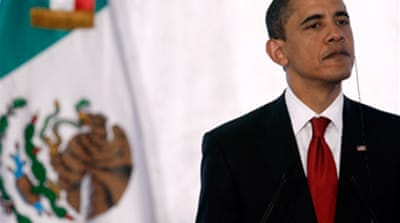 Obama vows to back Mexico drug war