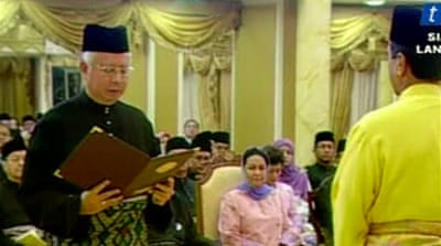 New Malaysian PM sworn in