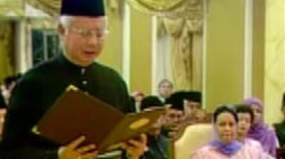 Video: New Malaysian PM sworn in