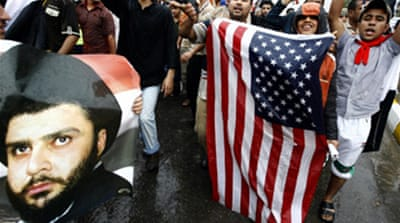 Iraqi protesters call for US exit