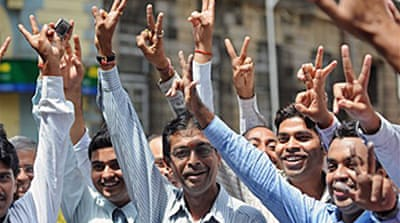 Poll results boost Indian markets