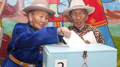 Mongolia awaits poll results