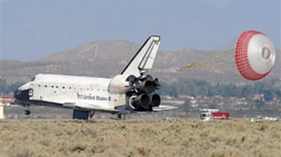 Shuttle returns after Hubble trip