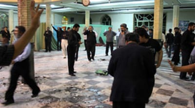 Iran hangs three over mosque blast