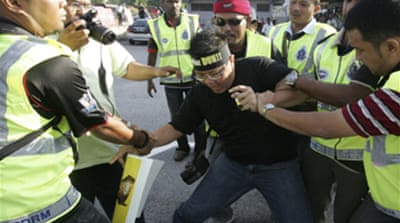 Arrests at Malaysia opposition demo