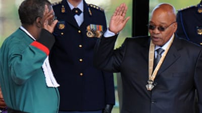 Zuma sworn in as S Africa president