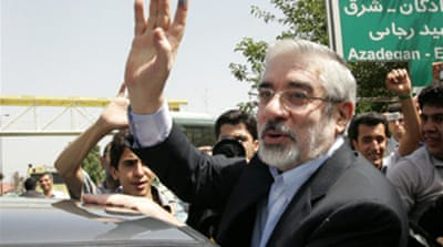 Mousavi urges end to Iran crackdown