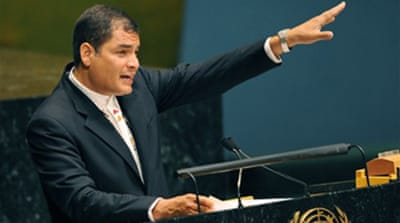 Correa calls for new finance system