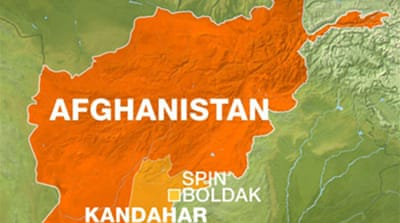 Bomber strikes Afghan border town