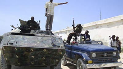 Somali forces retake town