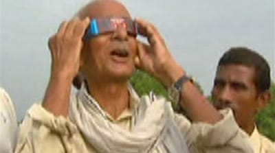 Video: The solar eclipse in India