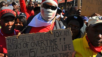 Video: S Africa strikes continue