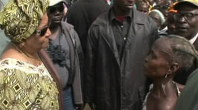 Video: Call to ban Liberia leader