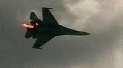 Russian stunt jets collide