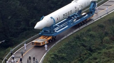 S Korea rocket moved to launch pad