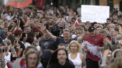 Baltics mark anti-Soviet protest