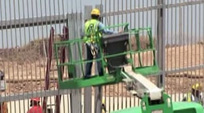 Video: US builds new border wall