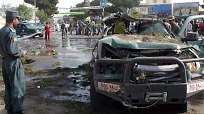 Deaths in Afghan city blast