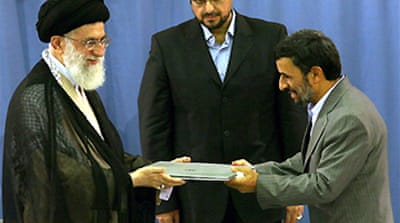 Iran leader endorses Ahmadinejad