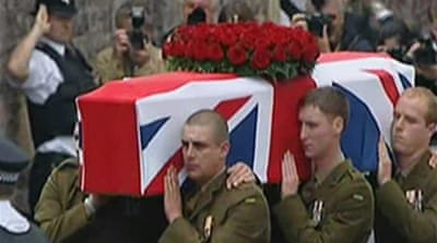 Video: British WWI veteran buried