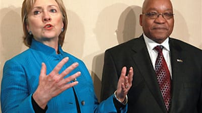 Clinton and Zuma vow stronger ties