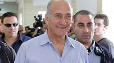 Ex-Israeli PM appears in court