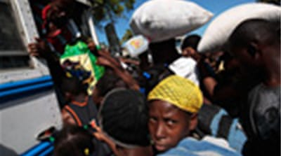 Leaving Haiti's Port-au-Prince