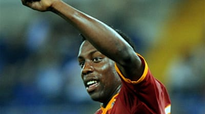 Okaka backheel gives Roma win