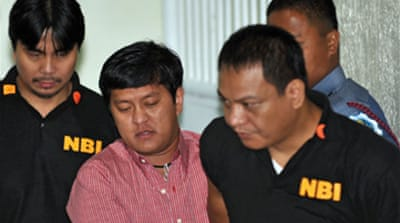 Philippine suspect denies charges