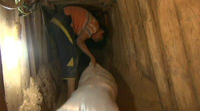 Gaza tunnels used to export goods