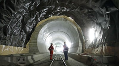 Swiss finish world's longest tunnel