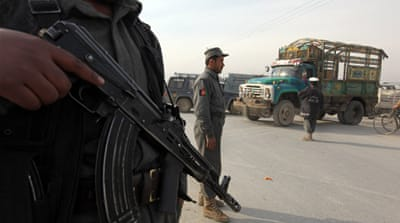 Afghan guards killed by Taliban