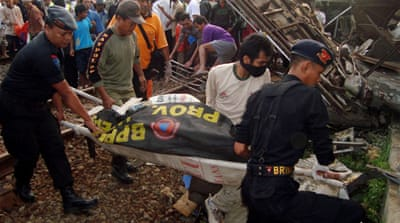 Deadly train crash in Indonesia