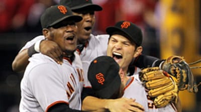 Giants set up underdogs' Series