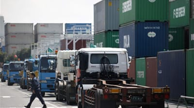 Strong yen slows Japan export rise