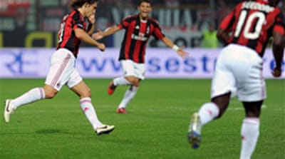 Pirlo strike puts Milan top