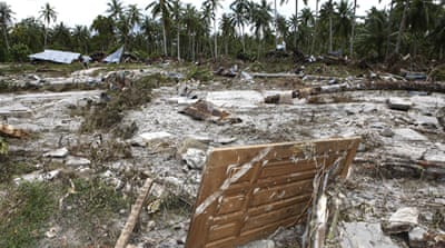 Tsunami survivors found on island