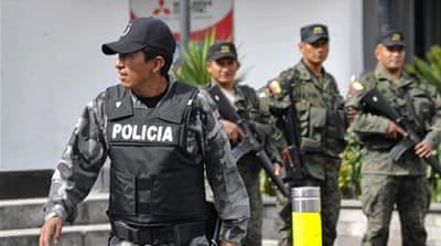 Ecuador to jail police over mutiny