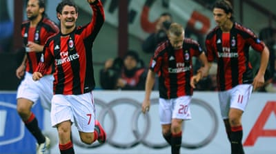 AC Milan take Serie A lead