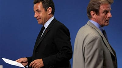 Sarkozy unveils new French cabinet