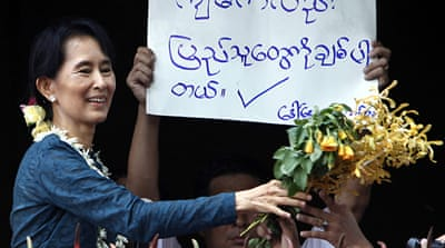 Suu Kyi softens stand on sanctions