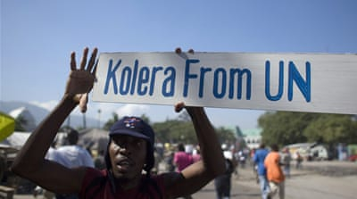 Cholera unrest hits Haiti capital