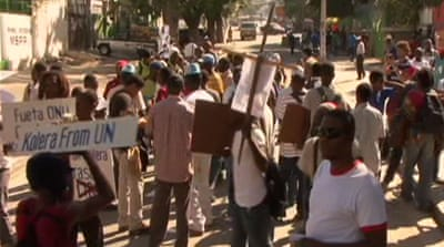 Haitians protest over UN presence