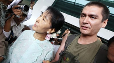 Suu Kyi reunited with her son