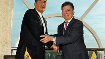 Colombia mends ties with Ecuador