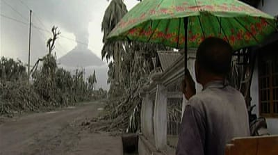 Searching for survivors at Merapi